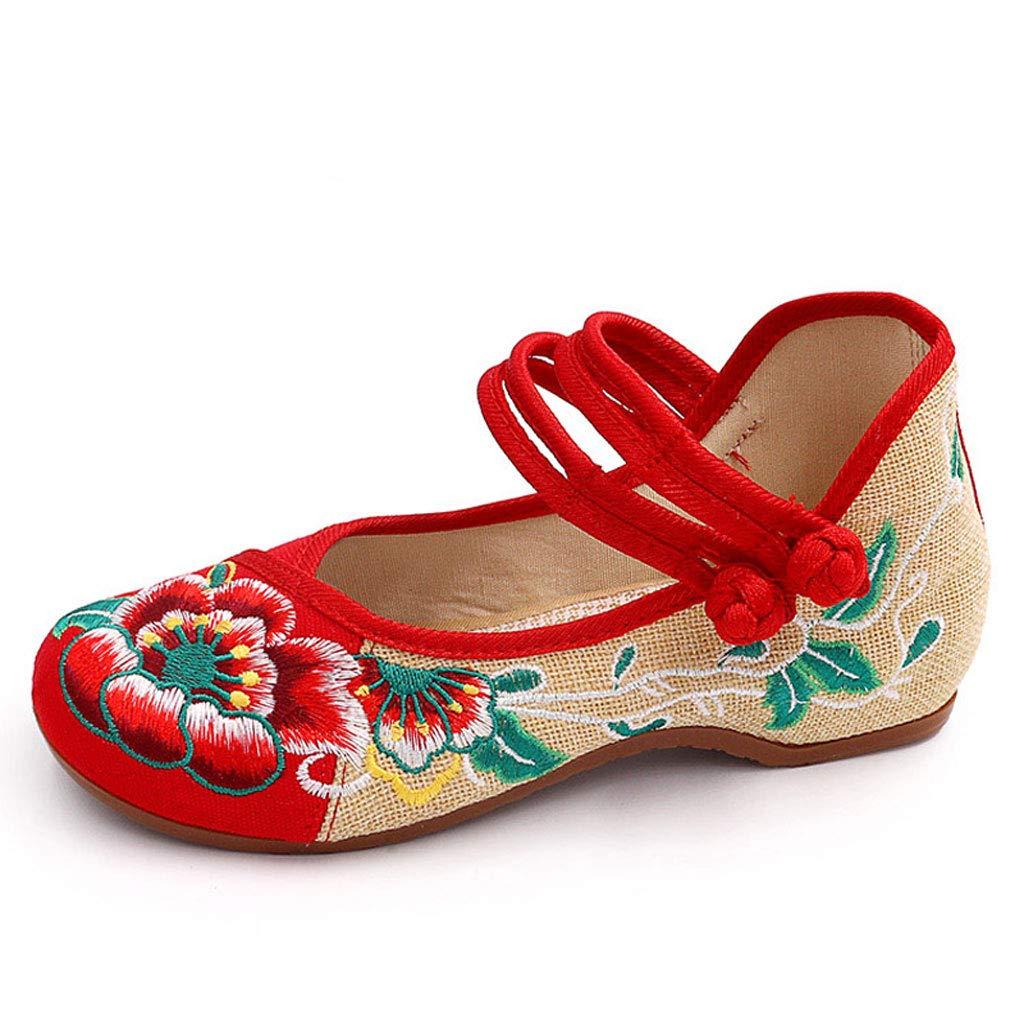 XHX De Chaussures Brodées Red, Élégantes Mode Chaussures De Danse Plat Chaussures Décontracté Chaussures De Mariage Rouge Respirant Vieilles Chaussures De Tissu De Pékin (Couleur : Red, Taille : 40) Red c5eba67 - deadsea.space