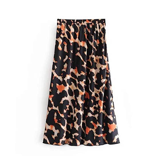 Faldas para Mujer Tallas Grandes Moda Mujer Estampado Leopardo ...