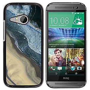 "Pulsar Snap-on Series Teléfono Carcasa Funda Case Caso para HTC ONE MINI 2 / M8 MINI , Fotografía Sand Beach Surf Olas"""