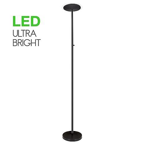 Revel kira home horizon 70 led torchiere floor lamp glass diffuser 36w