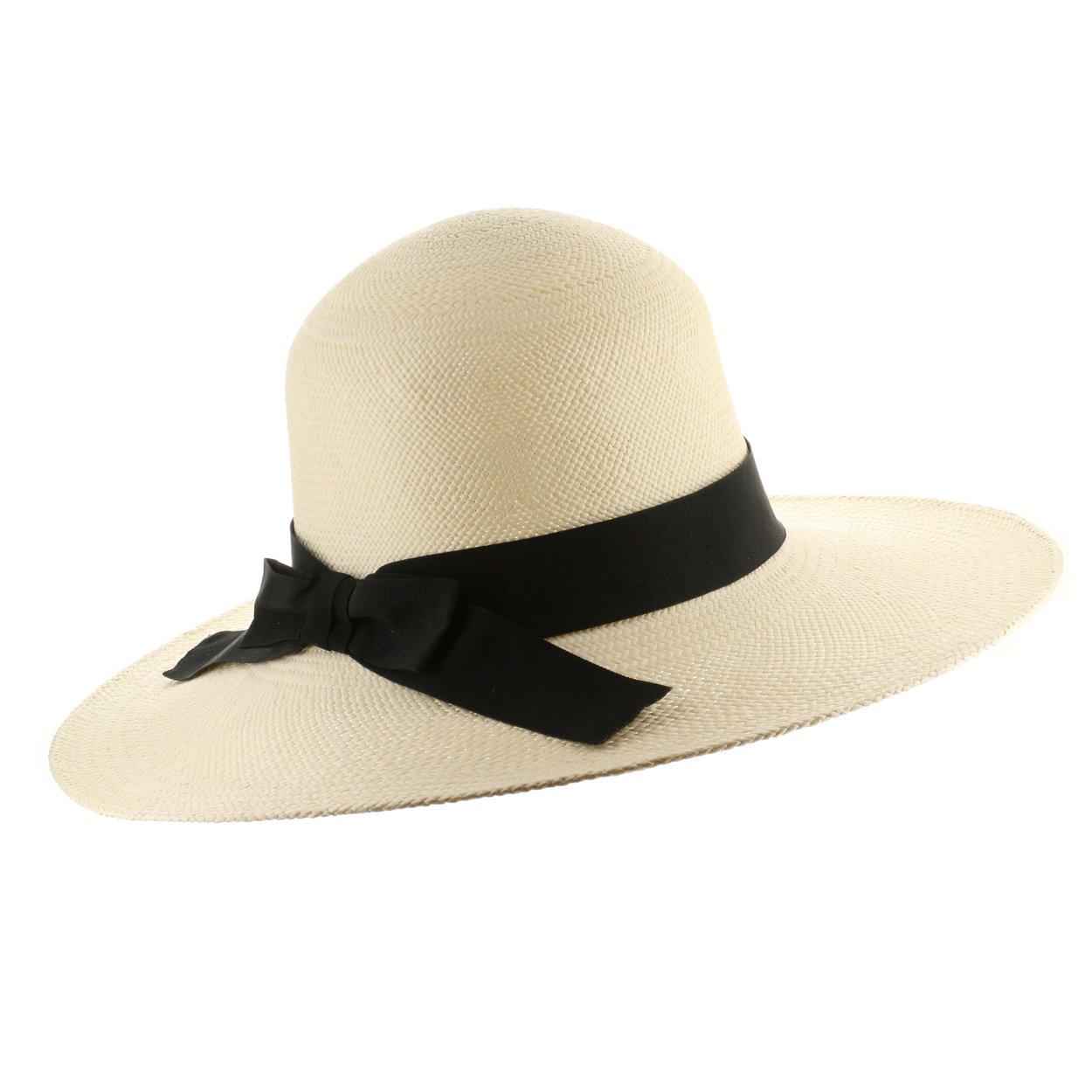 Ultrafino Classic Coco Womens Straw Panama Hat 6 7/8 by Ultrafino