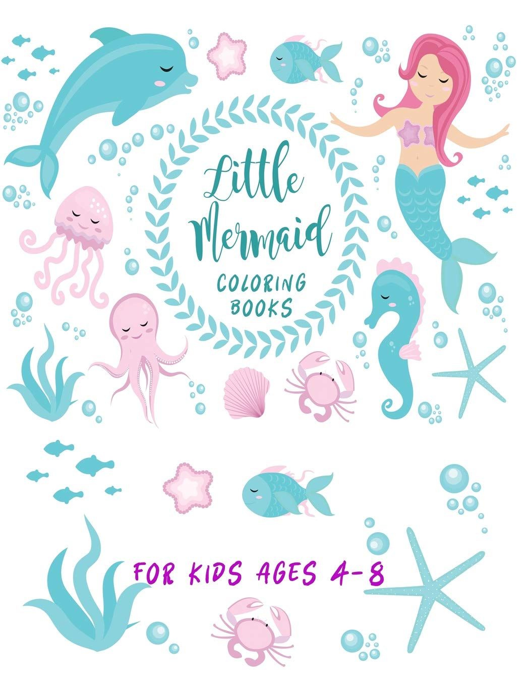 - Amazon.com: Little Mermaid Coloring Books For Kids Ages 4-8: Cute