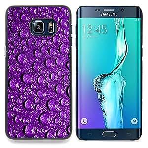 """For Samsung Galaxy S6 Edge Plus / S6 Edge+ G928 Case , Gotitas de agua púrpura reflexivo gotas de lluvia"""" - Diseño Patrón Teléfono Caso Cubierta Case Bumper Duro Protección Case Cover Funda"""