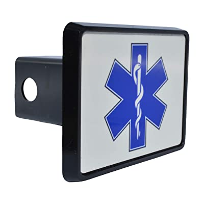 Rogue River Tactical EMT EMS Star of Life Trailer Hitch Cover Plug Gift Idea Paramedic Ambulance: Automotive