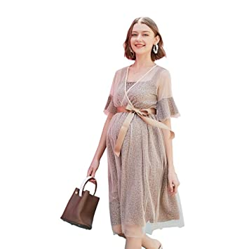 Uioy Vestido de malla - Mujer primavera y verano nueva moda marea ...