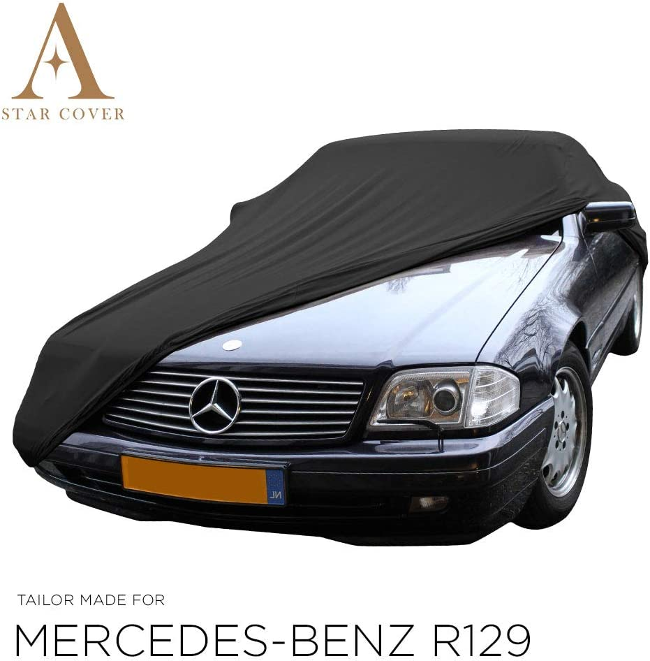 R129 LIVR/É Rapide Voiture DE Sport Oldtimer Star Cover Housse Voiture INT/ÉRIEUR Mercedes-Benz 500 SL B/ÂCHE Auto Garage   Noir Housse Housse Cabriolet
