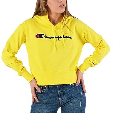 Champion Customfit Sudadera Capucha Mujer Amarillo: Amazon.es: Ropa y accesorios