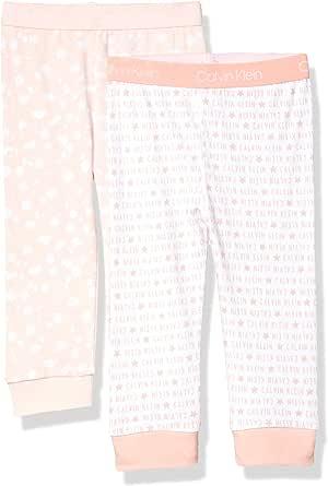 Calvin Klein Pijama pantalón Inferior pij, 2 Unidades Juego de Pantalones para bebés Unisex