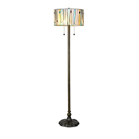 Serena Du0027italia Tiffany Style Lamps, Blue Contemporary Floor Lamp, Mosaic  Stained Glass