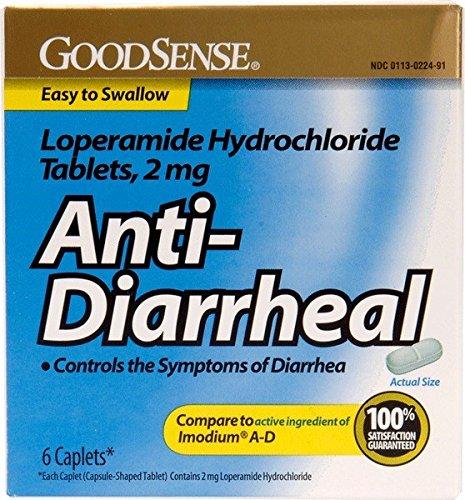 GoodSense® Goodsense® Loperamide Hydrochloride 2mg Anti-Diarrheal Caps 6 Count(Pack of (Loperamide Caps)