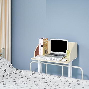 ZCJB Creative Dorm Room Computer Schreibtisch Schlafzimmer Liege  Schreibtisch Card Beistelltisch (Farbe : Maple Color