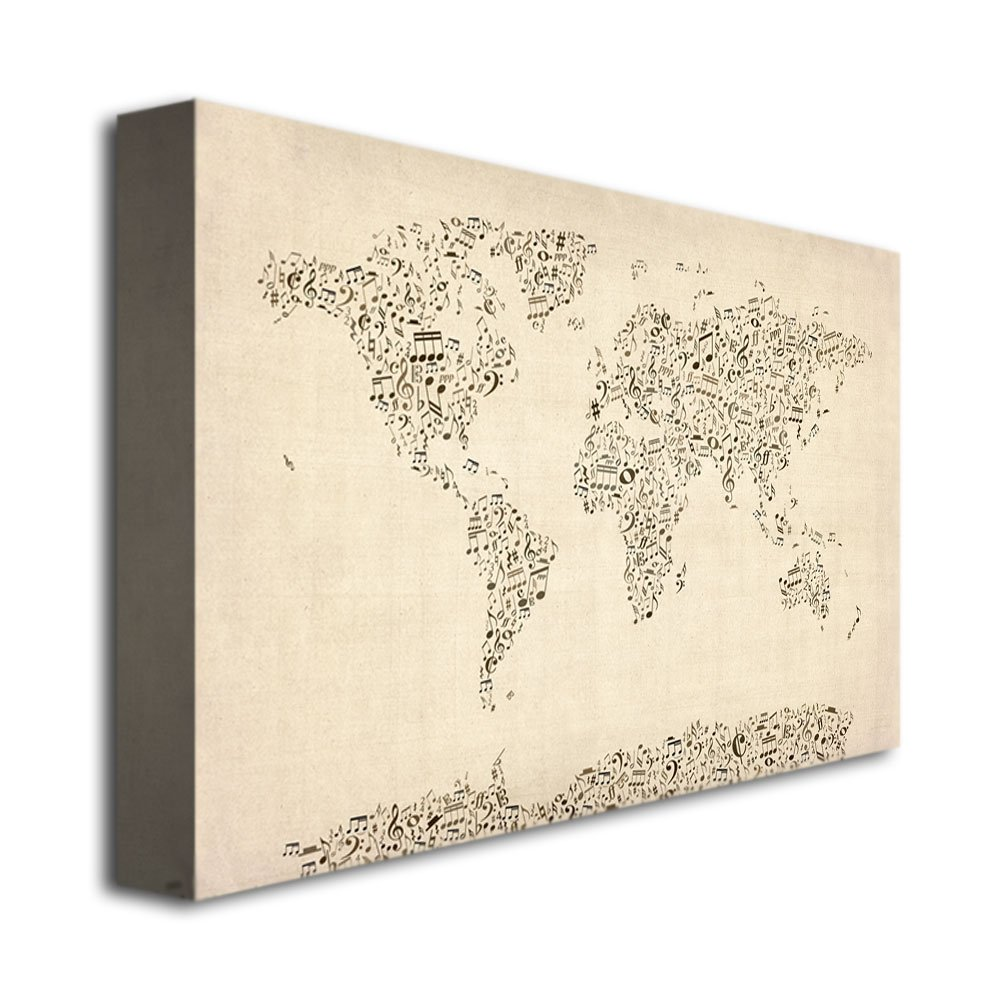 Amazon music note world map by michael tompsett 16x24 inch amazon music note world map by michael tompsett 16x24 inch canvas wall art prints posters prints publicscrutiny Image collections