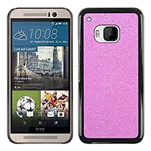 FlareStar Colour Printing Pink Glitter Sparkling Plastic Diamond cáscara Funda Case Caso de plástico para HTC One M9