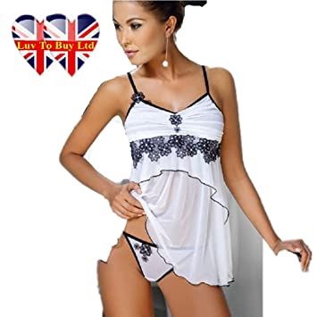ae5711a218b Classical Sexy Baby doll Sexy Underwear,Set Lingerie,Set Nightwear-A052:  Amazon.co.uk: Sports & Outdoors