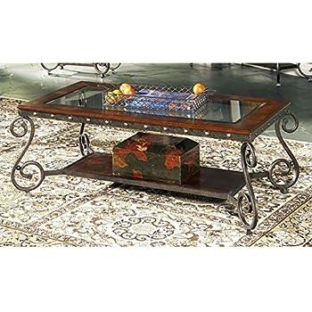 This Item Ellery Cocktail Table W Nailhead Trim Decor