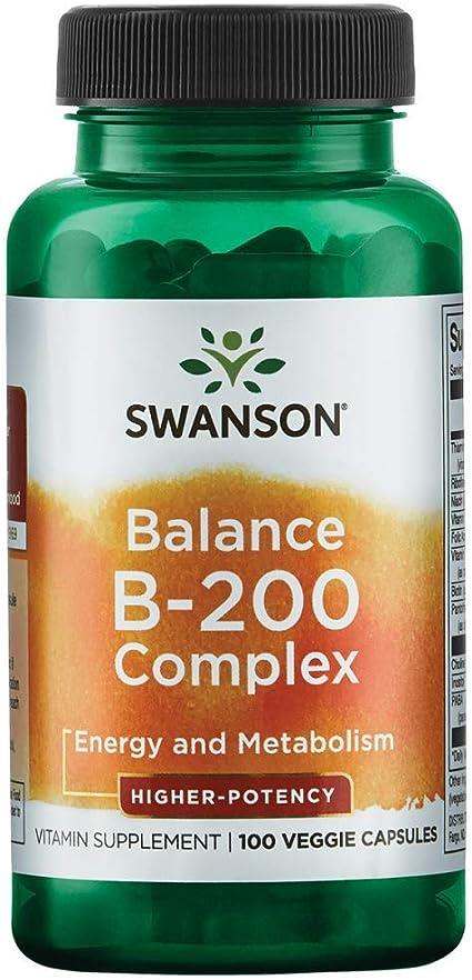 Amazon.com: Swanson High Potency Balance Vitamin B-200 100 Veg Capsules:  Health & Personal Care
