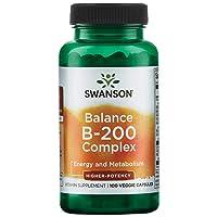 Swanson High Potency Balance Vitamin B-200 100 Veg Capsules