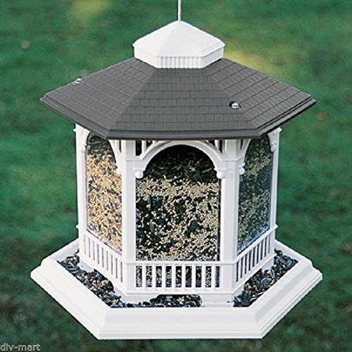 Blue Barn Feeder (ARTLINES LARGE GAZEBO BIRD FEEDER 10# SEED CAPACITY, Size: 14