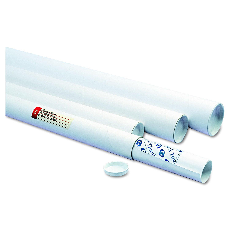 Quality Park 46008 White Mailing Tubes, 24l x 2dia, White (Case of 25)