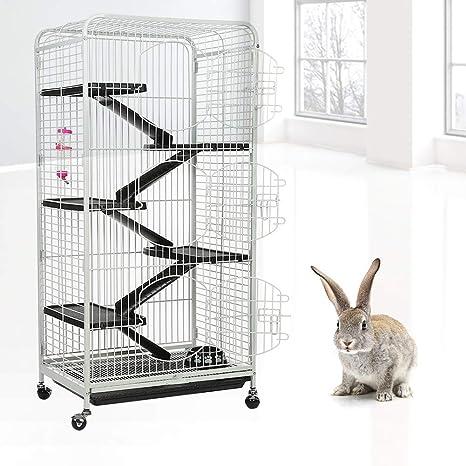 Jaula de Conejo, 5 Niveles Animal Peque?o Jaula de Mascota ...