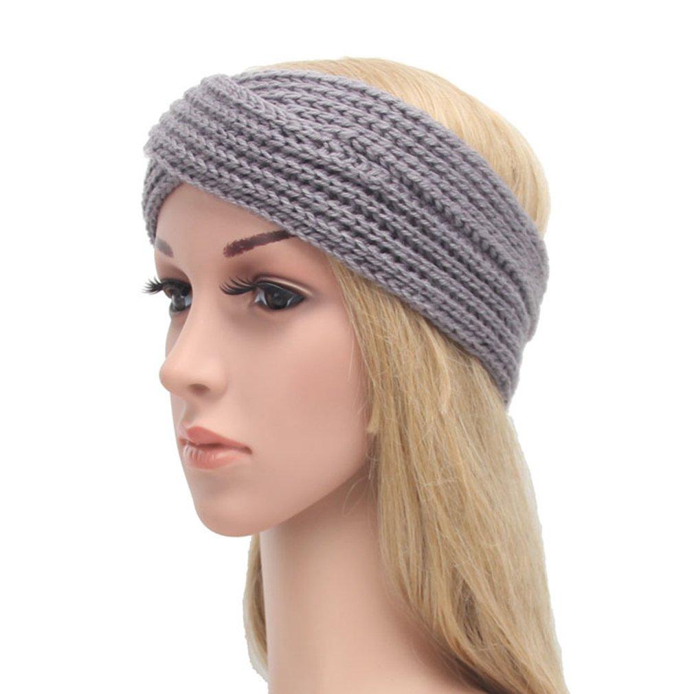 Gemvie Women Turban Knitted Headwrap Hair Band Winter Ear Warmer Headband Grey at Amazon Womens Clothing store:
