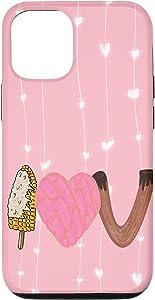 iPhone 12/12 Pro Valentine Funny Elote Concha Churro Lovers I Love U Gift Case