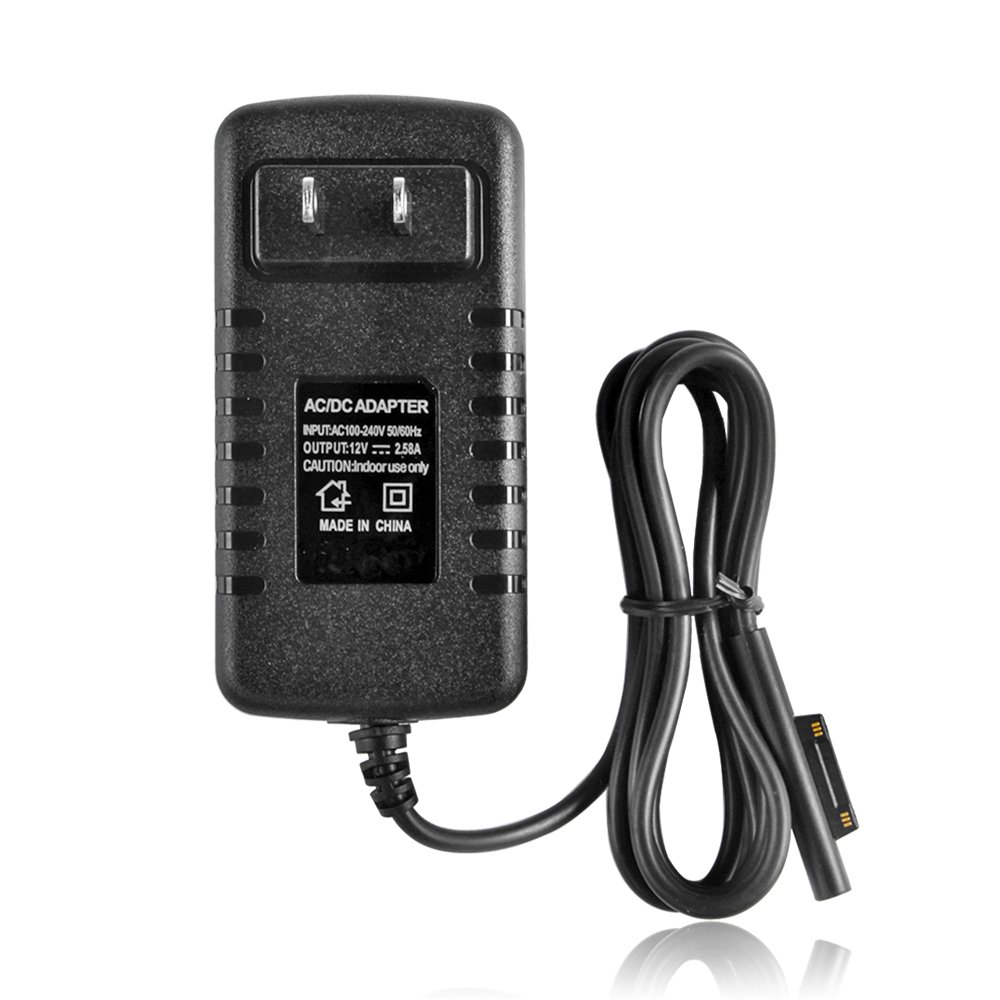 TNP Surface Pro 3/4 Charger Home Wall Travel AC Adapter Power Supply US Plug 100-240V Charging Cable Cord for Microsoft Surface Pro 3 and Surface Pro 4 Windows Tablet (Black)