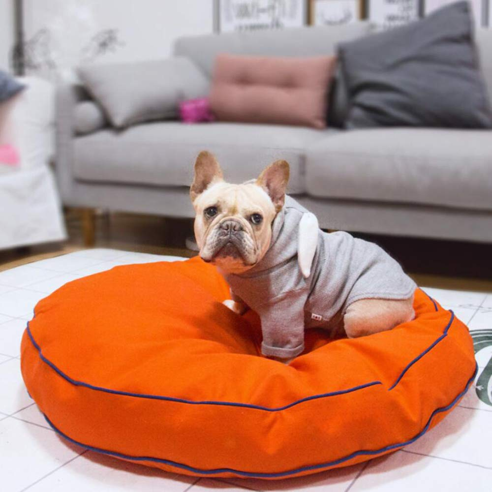 orange Dog mats Four Seasons Available Round nests Removable cat Litter kennels Pet Large Round mats