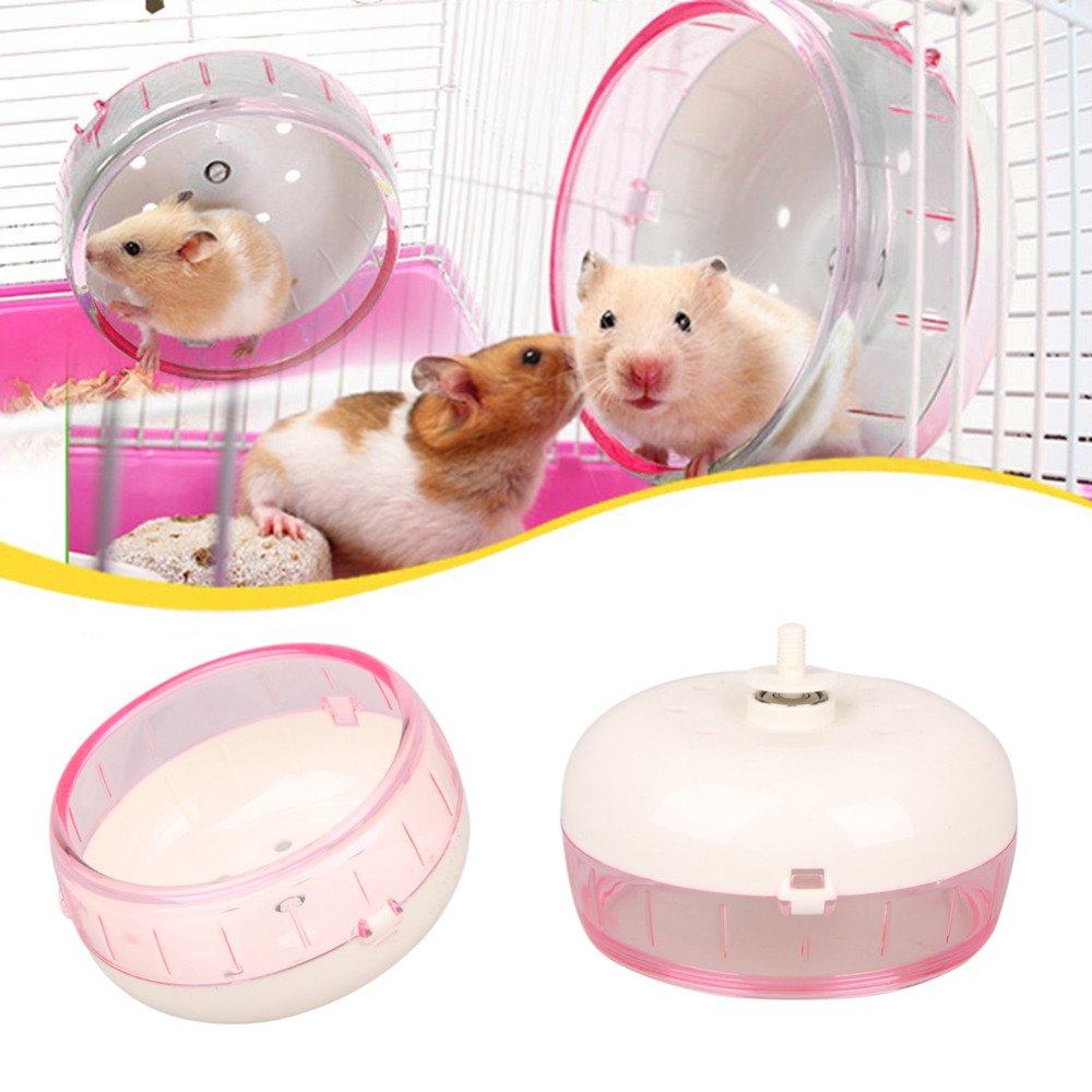 Embiofuels(TM) Plastic Hamster Wheel Mouse Rat Exercise Silent Running Spinner Wheel Ball Toys for Hamster Pet Supplies Hamster Toy by Embiofuels (Image #1)