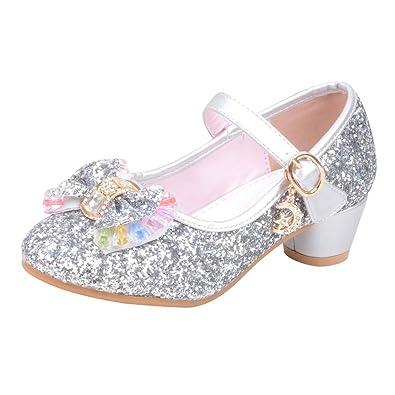 44b26d373 Chaussures Enfant Princesse Talons Ballerines pour Fille Cérémonie ...