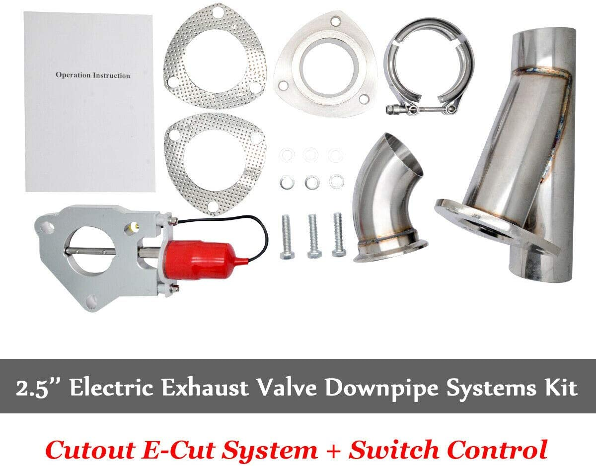 2.5 inch 63mm Exhaust Control E-cut Out Dual Valve Electric Y Pipe with Remote