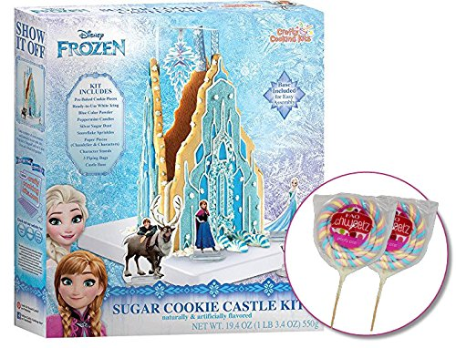 Decorating Snowflake Cookies (Disney Frozen Sugar Cookie Castle Decorating Kit for Girls – Includes Two Big Poofy Candy Lollipops)