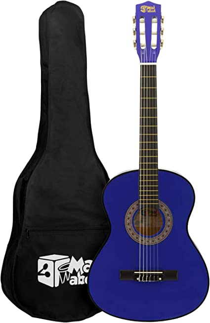 Mad About MA-CG02 - Guitarra clásica (tamaño 3/4, color azul ...