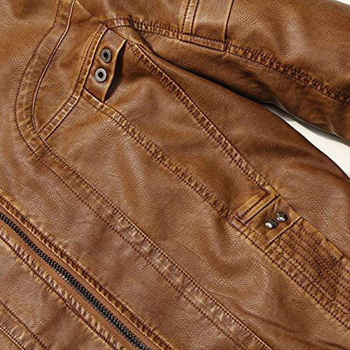 Blouson Piebo Solid Capuche Cardigan Tops Pullovers En Parka Et Homme Manches Fluff Motard Vêtements café Pour Hommes Chaud Grande Coton Loisirs Épaissir Manteau Taille Par Cuir Veste Longues Hiver C qwzSqB4r