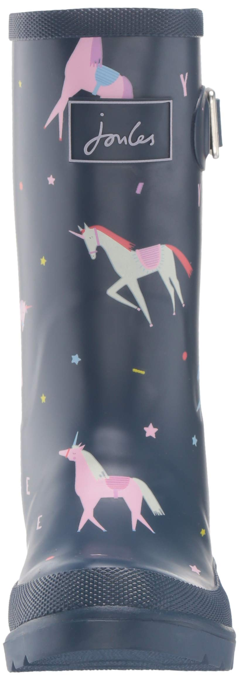 Joules Girls' JNR Welly Print Rain Boot, Blue Unicorn, 3 M US Little Kid by Joules (Image #4)