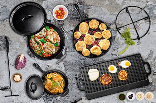 Bruntmor-Pre-Seasoned-7-Piece-Heavy-Duty-Cast-Iron-Dutch-Oven-Camping-Cooking-Set-with-Vintage-Carrying-Storage-Box