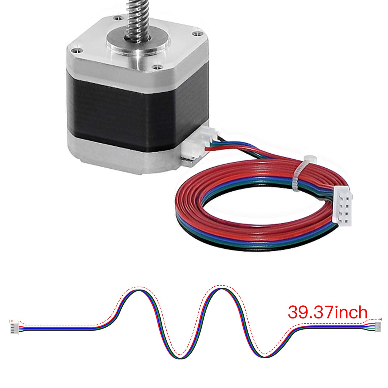 Usongshine 15pcs Stepper Motor Cable Connecting Cable 1M XH2.54 Terminal Motor Link 4pin to 6pin for 3D Printer Stepper Motor