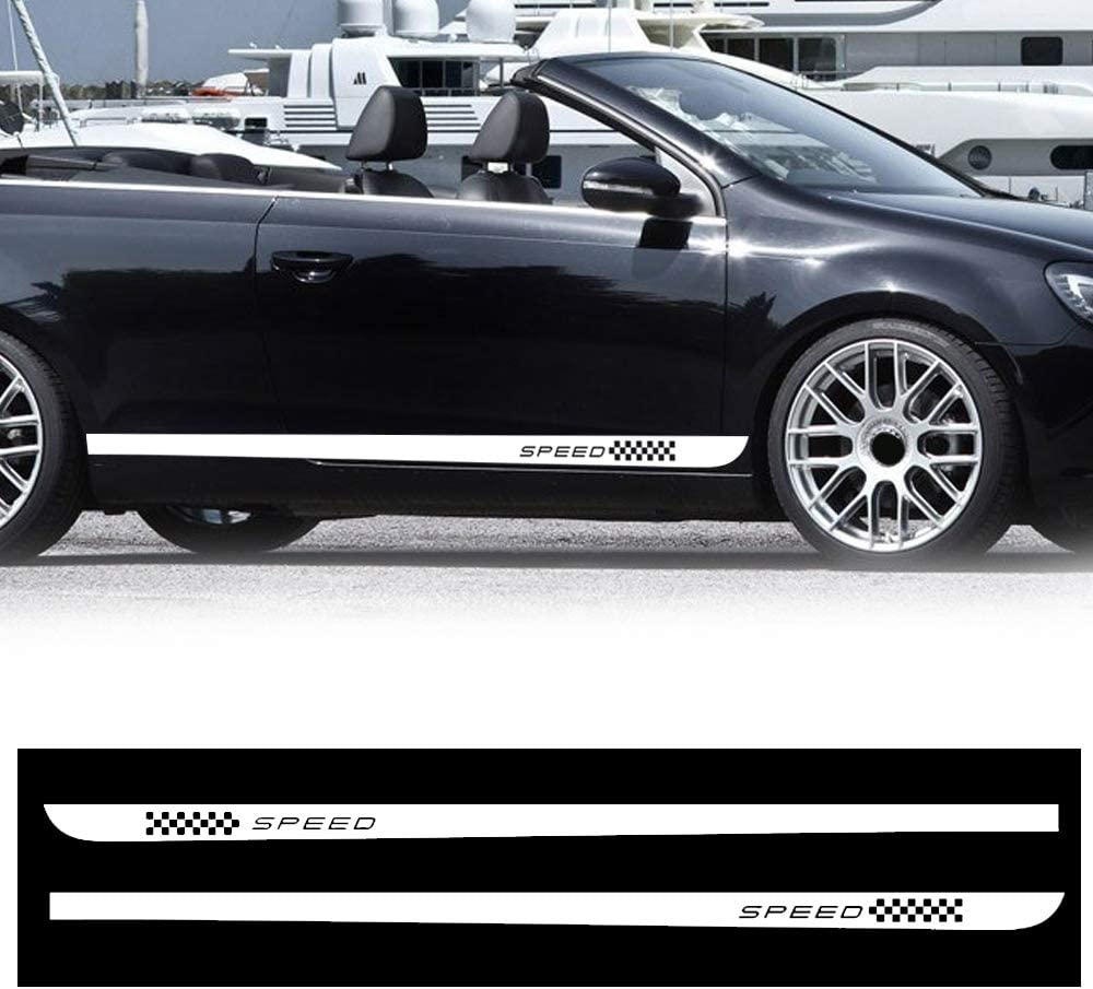 Custom for LAND ROVER Discovey Freelander Range Rover Body Side Stripe Car Side Stripe Bumper Stickers Wraps Car Side Door Body Decals 2pcs