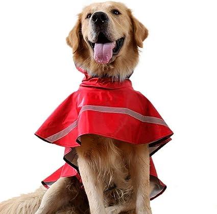 Tineer Regolabile Impermeabile Cane con Cappuccio Impermeabile Cane Riflettente Cappotto Pioggia Giacca Cane Vestiti Antipioggia per Cani Piccoli di
