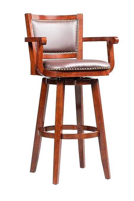 Peachy Boraam 51934 Broadmoor Swivel Extra Tall Barstool 50 Inch Cherry Uwap Interior Chair Design Uwaporg