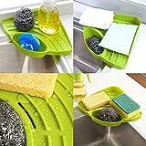 GreenSun(TM) Kitchen Sink Corner Storage Rack Sponge Holder Wall Mounted Dishes drip rack Bathroom Soap Dish Wall Storage Rack