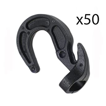 2 Adjustable Bungee Hooks For Shock Cord Bungie Rope Boat /& Truck Tarp Cover