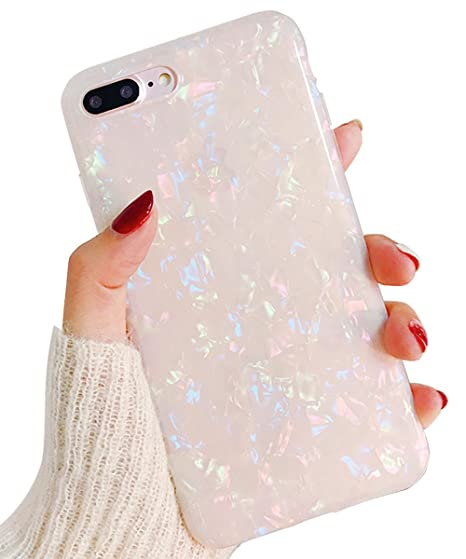 info for 3d7ca fff10 J.west iPhone 8 Plus Case/iPhone 7 Plus Case, Cute Ultra Thin [Tinfoil  Series] Macaron Color Bling Lightweight Soft TPU Case Cover for iPhone 7  Plus / ...