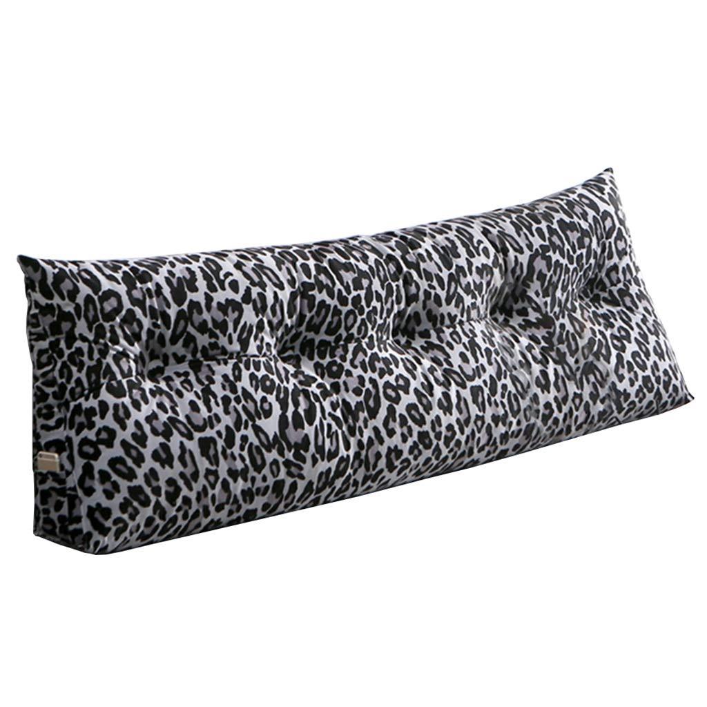 Triangle Wedge Head Cushion, Bed Backrest Pillow Headboard Cushion, Tatami Reading Back Cushion, Pp Washable Cotton (Color : E, Size : 150x20x50cm) by K&F-Cushion