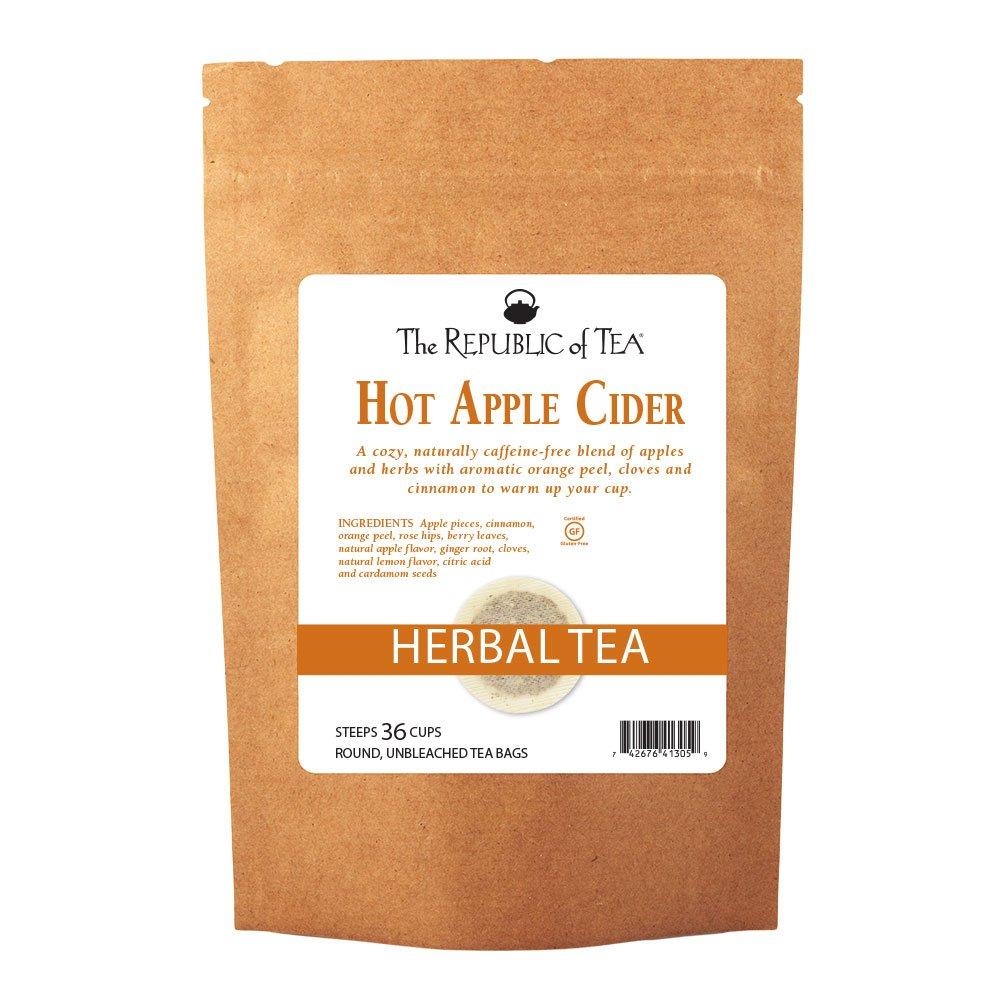 The Republic of Tea Hot Apple Cider Seasonal Herbal Tea, 250 Tea Bag Bulk by The Republic of Tea