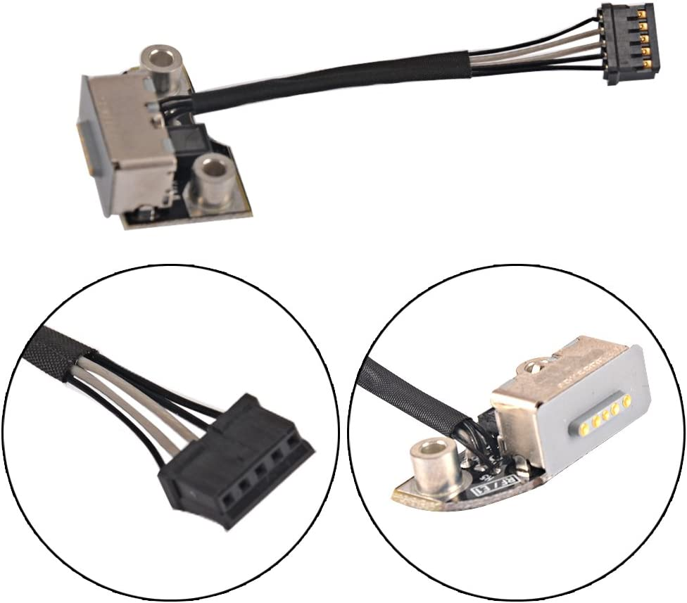 Eathtek Replacement AC DC Power Jack Board Charging Port for MacBook Pro Retina A1398 15 820-3109-A Series