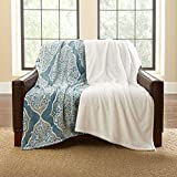 Lounge Throws - Plush Throw Blankets - Over Sized 60 x 70 - Set of 2 Coordinating Colors (Layla)
