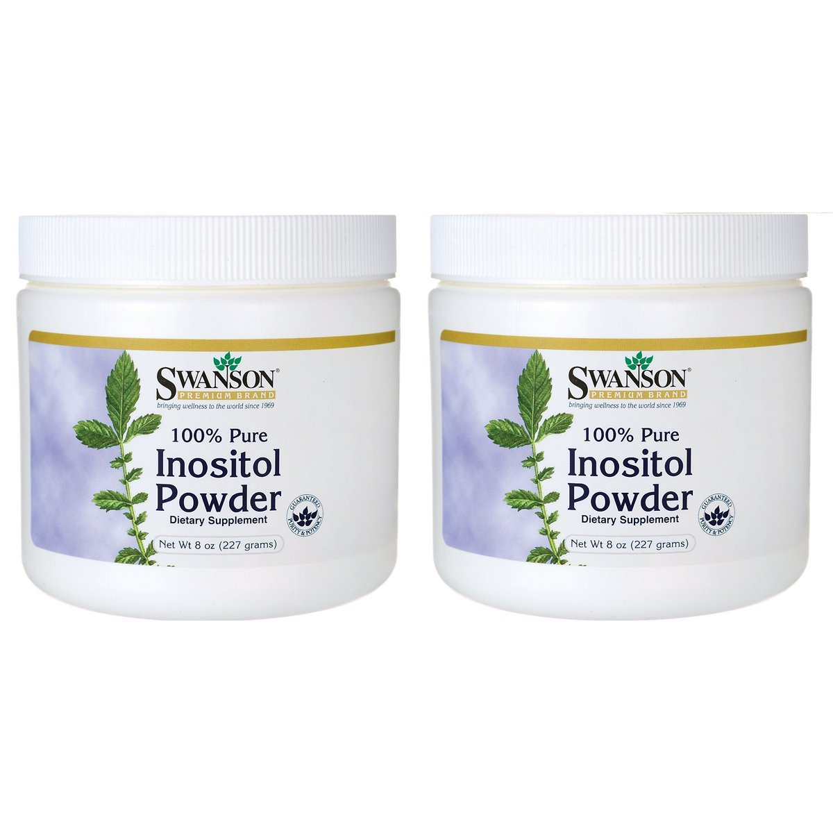 Swanson 100% Pure Inositol Powder 8 Ounce (227 g) Pwdr 2 Pack