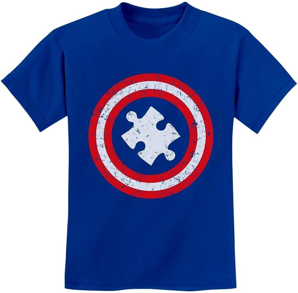 Autism Awareness SuperHero Puzzle Logo Toddler Hoodie