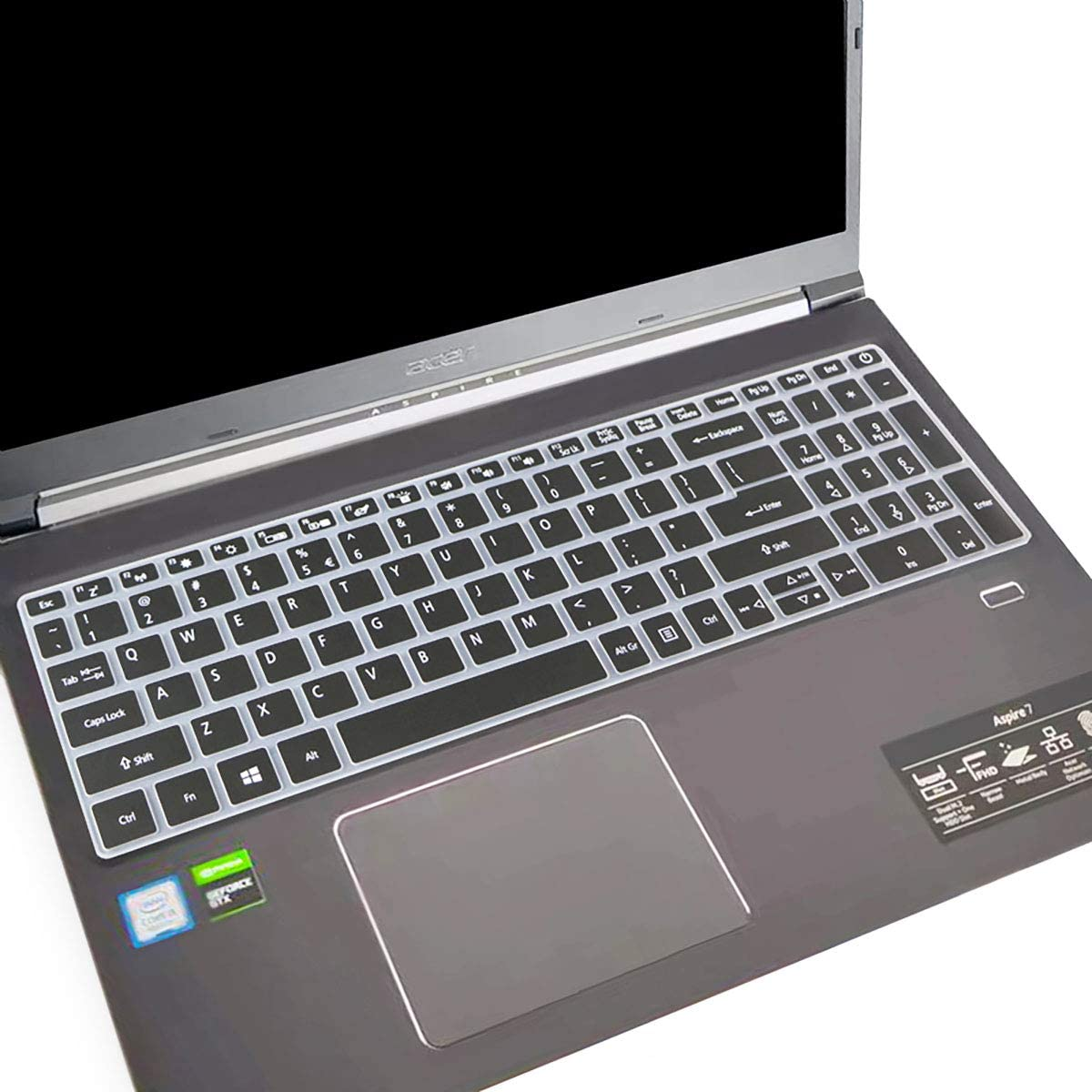 """Keyboard Cover for Acer Aspire 7 Laptop 15.6"""" Model A715-74G /A715-75G with Numeric Keypad ONLY(Not fit A715-71G 715-72G, A715-73G, A717 and Other Models) Keyboard Protective-Black"""